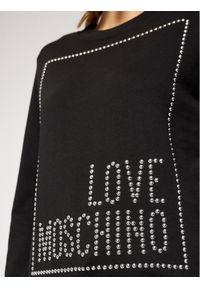Love Moschino - LOVE MOSCHINO Bluza W630216M 4055 Czarny Regular Fit. Kolor: czarny