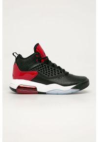 Czarne sneakersy Jordan na sznurówki, z okrągłym noskiem