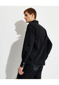 SER.O.YA - Czarna koszula jeansowa Alex. Typ kołnierza: kołnierzyk klasyczny. Kolor: czarny. Materiał: jeans. Długość: długie. Styl: klasyczny