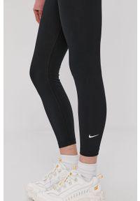 Czarne legginsy Nike Sportswear z podwyższonym stanem, gładkie