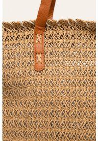 Beżowa torba plażowa ANSWEAR na ramię, duża