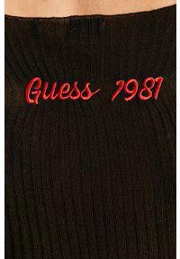 Czarny sweter Guess Jeans na co dzień, casualowy #5