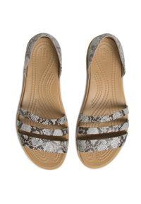 Brązowe sandały Crocs na co dzień, casualowe