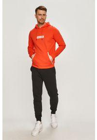 Pomarańczowa bluza nierozpinana Calvin Klein Performance na co dzień, casualowa, z nadrukiem, z kapturem
