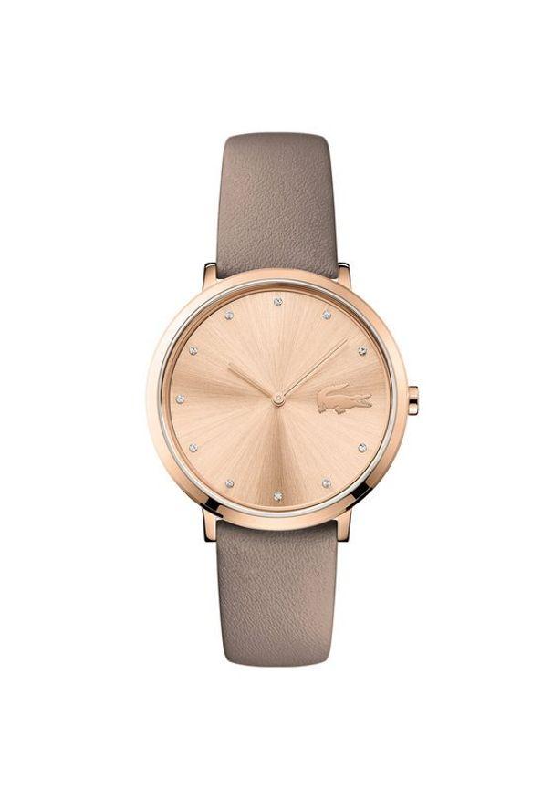 Beżowy zegarek Lacoste