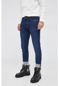 Pepe Jeans - Jeansy Finsbury. Kolor: niebieski