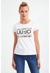 Liu Jo Sport - T-SHIRT LIU JO SPORT. Wzór: paski. Styl: sportowy