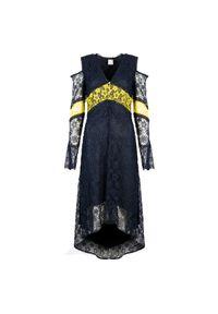 """Pinko Sukienka """"Istruito"""". Materiał: tkanina, koronka. Długość rękawa: długi rękaw. Typ sukienki: asymetryczne, dopasowane"""