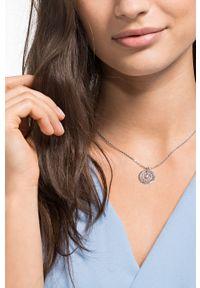 Srebrny naszyjnik Swarovski metalowy, z kryształem
