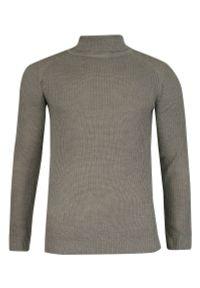 Szary sweter Brave Soul na zimę, z golfem, elegancki