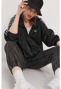 Czarna kurtka adidas Originals gładkie