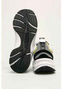 Białe sneakersy ROBERTO CAVALLI SPORT z okrągłym noskiem, na sznurówki #5