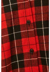 Czerwona koszula ANSWEAR casualowa, na co dzień, długa