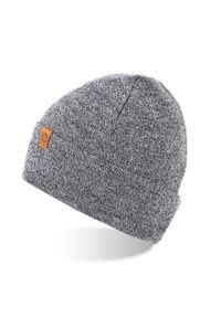 Szara czapka BRODRENE z aplikacjami, elegancka
