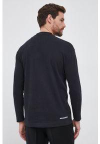 Drykorn - Longsleeve bawełniany Linus. Okazja: na co dzień. Kolor: czarny. Materiał: bawełna. Długość rękawa: długi rękaw. Wzór: gładki. Styl: casual