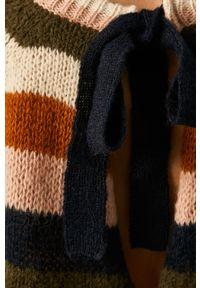 Złoty sweter Vila z okrągłym kołnierzem, raglanowy rękaw #5