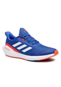 Adidas - Buty adidas - EQ21 Run J FX2247 Royblu/Ftwwht/Solred. Okazja: na co dzień. Kolor: niebieski. Materiał: materiał. Szerokość cholewki: normalna. Styl: casual. Sport: bieganie