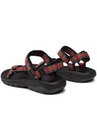 Czerwone sandały trekkingowe Teva na lato