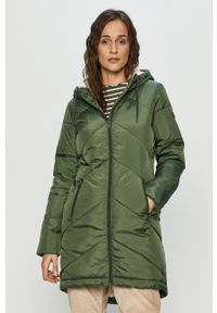 Zielona kurtka Roxy na co dzień, z kapturem, casualowa