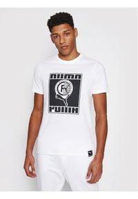 Puma T-Shirt Intl Tee 599804 Biały Regular Fit. Kolor: biały