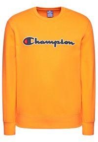 Champion Bluza Satin Script Logo 214188 Pomarańczowy Comfort Fit. Kolor: pomarańczowy