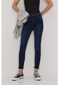 Niebieskie jeansy Vero Moda gładkie