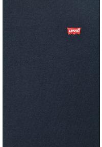 Levi's® - Levi's - T-shirt. Okazja: na co dzień, na spotkanie biznesowe. Kolor: niebieski. Materiał: dzianina. Wzór: aplikacja. Styl: biznesowy, casual