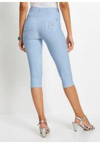 Fioletowe jeansy bonprix