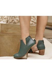 Zielone botki Zapato w kolorowe wzory, na lato, casualowe, wąskie