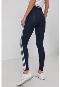Adidas - adidas - Legginsy. Kolor: niebieski. Materiał: bawełna