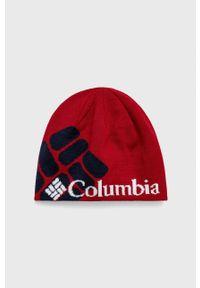 columbia - Columbia - Czapka. Kolor: czerwony. Materiał: dzianina