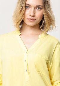 Born2be - Żółta Bluzka Fiber. Kolor: żółty #3