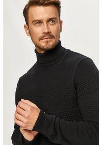 Niebieski sweter PRODUKT by Jack & Jones z długim rękawem, długi