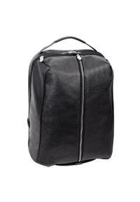 MCKLEIN - Skórzany plecak męski na laptopa McKlein South Shore czarny. Kolor: czarny. Materiał: skóra. Styl: biznesowy