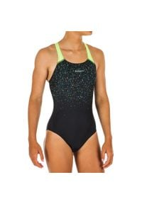NABAIJI - Strój pływacki jednoczęściowy KAMYLEON TASK dla dzieci. Kolor: czarny. Materiał: materiał