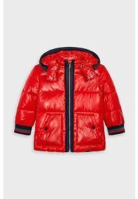 Czerwona kurtka Mayoral z kapturem, na co dzień, casualowa