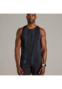 KIPRUN - Koszulka Do Biegania Męska Bez Rękawów Kiprun Light. Kolor: czarny. Materiał: materiał. Długość rękawa: bez rękawów. Sport: fitness