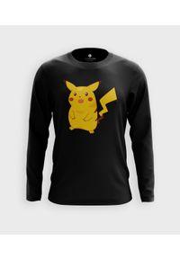 MegaKoszulki - Koszulka męska z dł. rękawem Shocked Pikachu 2. Materiał: bawełna