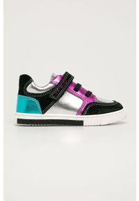 Srebrne buty sportowe Primigi z cholewką, z okrągłym noskiem, na rzepy
