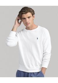 Ralph Lauren - RALPH LAUREN - Biała bluza z bawełny. Typ kołnierza: polo. Kolor: biały. Materiał: bawełna. Wzór: haft. Styl: klasyczny