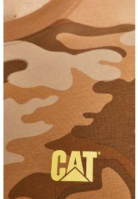 CATerpillar - Caterpillar - T-shirt. Okazja: na co dzień. Kolor: brązowy. Materiał: dzianina. Styl: casual