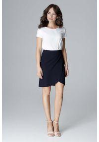 Niebieska spódnica mini Katrus elegancka, krótka