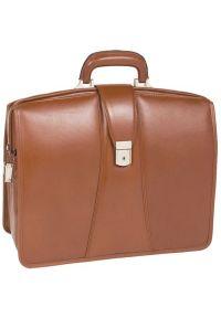 Teczka na laptopa MCKLEIN Harrison 17 cali Brązowy. Kolor: brązowy. Materiał: skóra, materiał. Styl: klasyczny, elegancki #4