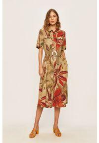 Desigual - Sukienka. Długość rękawa: krótki rękaw