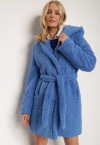 Renee - Niebieska Kurtka Klymiera. Kolor: niebieski. Materiał: tkanina, futro