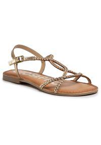 Złote sandały Gioseppo casualowe, na co dzień