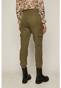 Zielone spodnie materiałowe medicine