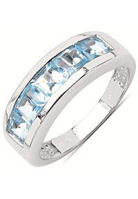 Braccatta - BONNIE Srebrny pierścionek obrączka blue topaz. Materiał: srebrne. Kolor: srebrny. Kamień szlachetny: topaz