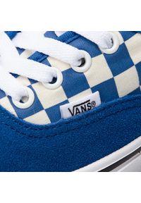 Niebieskie buty sportowe Vans z cholewką