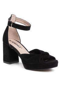Czarne sandały Karino casualowe, na co dzień